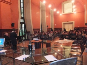 Incontri d'arte  del 24/02/2015 al Scuole Suor Orsola Benincasa - Napoli con l'artista Gerardo Di Fiore-sala Villani